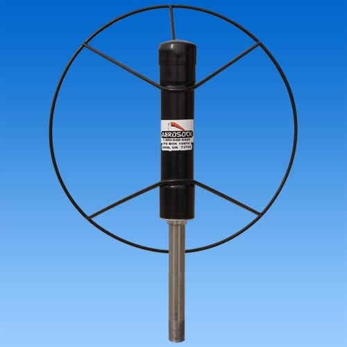 Black Metal Wheel Windsock Frame Attached To Pole